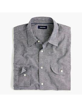 Slub Poplin Cotton Shirt by J.Crew
