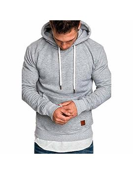 Mens Shirts Clearance Charberry Long Sleeve Autumn Winter Casual Sweatshirt Hoodies Top Blouse Tracksuits by Charberry Men Coat