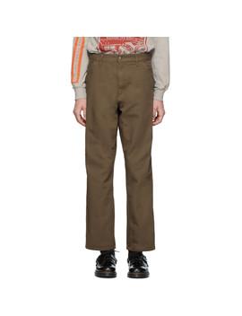 Brown Single Knee Trousers by Carhartt Work In Progress