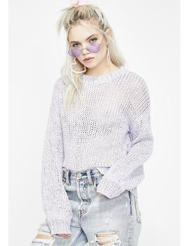 Bold Type Knit Sweater by Wild Honey