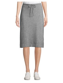 Wool Cashmere Drawstring Sweater Skirt by Vince