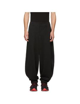 Black Ponte Balloon Trousers by Comme Des GarÇons Homme Plus