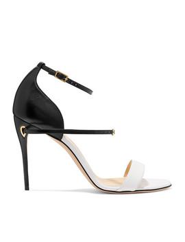 Rolando Two Tone Leather Sandals by Jennifer Chamandi