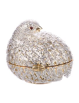 Crystal Embellished Grouse Minaudière by Judith Leiber