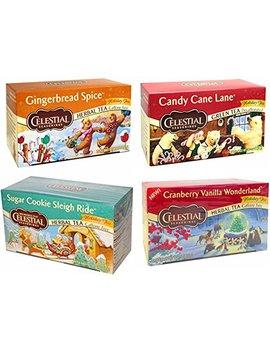 Celestial Seasonings Holiday Variety Decaf Herbal Teas, 20 Bags, (Pack Of 4) by Celestial Seasonings