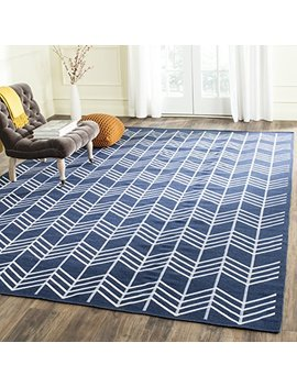 Safavieh Kilim Collection Klm624 B Hand Woven Navy Premium Wool Area Rug (5' X 8') by Safavieh