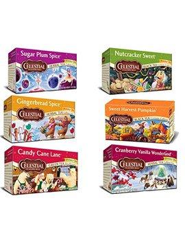 Bundle: Celestial Seasonings Holiday Tea Sampler 6 Pack by Celestial Seasonings