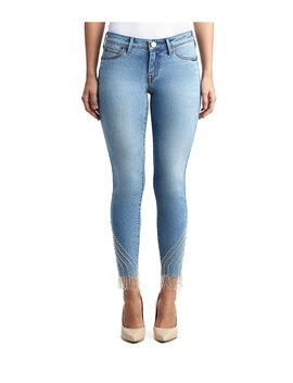 Womens Crystal Embellished Hem Halle Super Skinny Jean by True Religion
