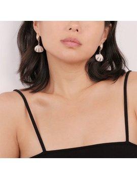 Sea Shell Earrings, Seashell Jewelry, Mermaid Earrings, Dangling Shell, Real Shell Earrings, Ocean Jewelry, Elegant Earrings, Cowrie Shell by Etsy