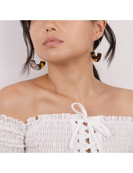 Acetate/Resin/Tortoise Shell/Acrylic Earrings, Minimalist Statement Earrings, Bold Fan/Moon Earrings, Bohemian Boho Jewelry, Hoop Earrings by Etsy