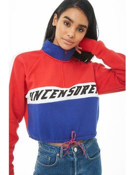 Fleece Uncensored Graphic Pullover Top by Forever 21