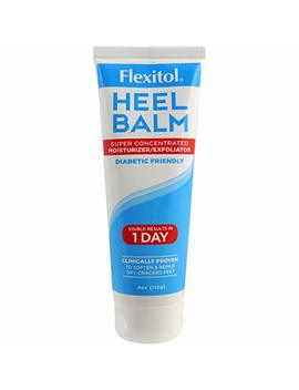 Flexitol Heel Balm 4 Oz Tube, Rich Moisturizing & Exfoliating Foot Cream For Fast Relief Of Rough, Dry & Cracked Skin On Heels And Feet. Use Daily Or For Pedicures. Safe & Effective For Diabetic Use. by Flexitol