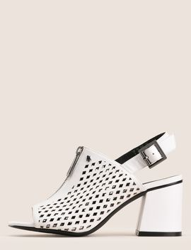Diamond Perforated Zip Up Sandal by Armani Exchange