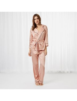 Wren Kimono And Trouser Set Rose Dust by Bluebella