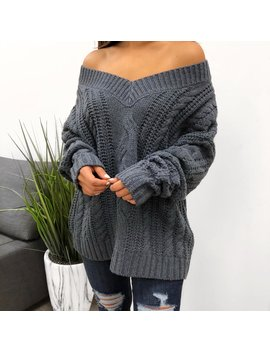 Monique Sweater (Blue) by Laura's Boutique