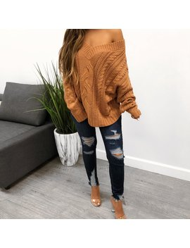 Monique Sweater (Peach) by Laura's Boutique