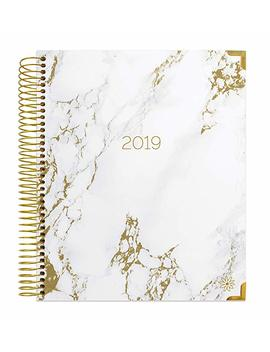 "Bloom Daily Planners 2019 Calendar Year Hardcover Vision Planner (January 2019   December 2019)   Monthly/Weekly Column View Inspirational Dated Agenda Organizer   7.5"" X 9""   Marble by Bloom Daily Planners"