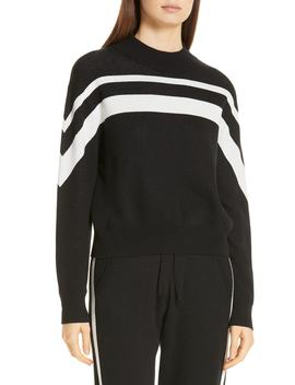 Metallic Stripe Cotton Blend Sweater by Atm Anthony Thomas Melillo