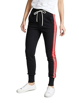 Pride Terry Varsity Stripe Slim Sweats by Twenty Tees