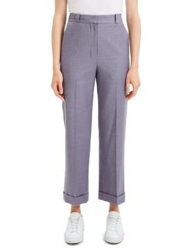 Straight Cuff Wool Pants by Theory