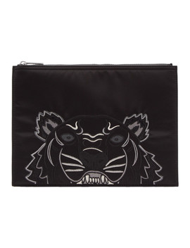 Black Limited Edition Holiday A4 Pouch by Kenzo
