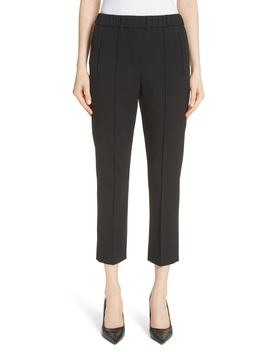 Pintuck Wool Blend Trousers by Michael Kors