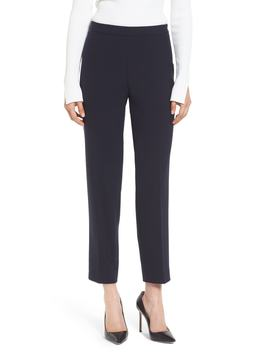 Tiluna Side Zip Ponte Ankle Pants by Boss