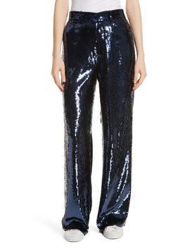 Wide Leg Sequin Pants by Polo Ralph Lauren