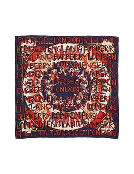 Guards Text Silk Square Scarf by Burberry