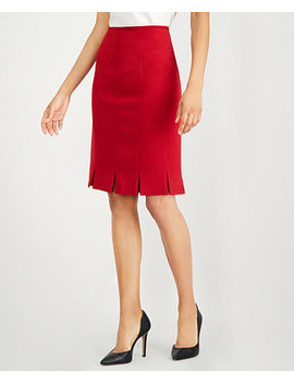 Pleated Stretch Crepe Skirt by Kasper