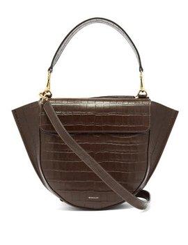 Hortensia Medium Crocodile Effect Leather Bag by Wandler
