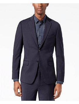 Men's Skinny Fit Infinite Stretch Navy Suit Jacket by Calvin Klein