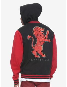 Harry Potter Gryffindor Black & Red Varsity Hoodie Hot Topic Exclusive by Hot Topic