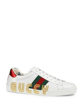 Men's Guccy Ace Sneakers by Gucci