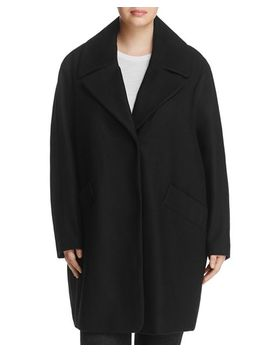 Wendy Notched Collar Coat by Marc New York Plus
