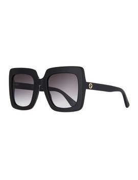 Square Acetate Gradient Sunglasses by Gucci