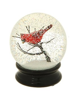4.5 Inch Cardinal On A Branch Water Globe by Raz Imports