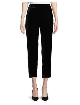 Velvet Ankle Trousers, Plus Size by Eileen Fisher
