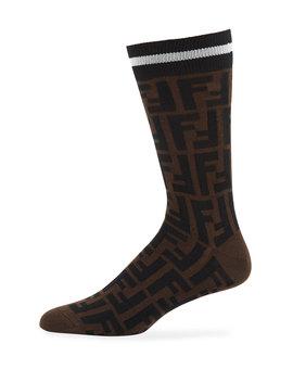 Men's Ff Pattern Calzino Sport Socks by Neiman Marcus