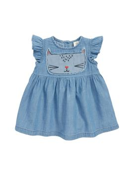 Embroidered Kitty Chambray Dress by Tucker + Tate
