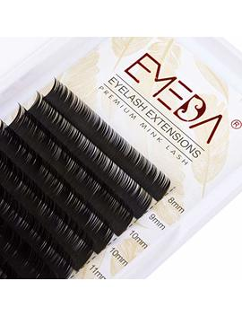 Individual Single Eyelash Extensions C Curl .15 Thickness 8 15mm Mix Faux Mink Eyelashes Silk Natural Eye Lashes By Emeda (0.15) by Amazon