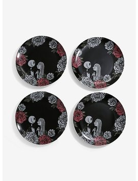 The Nightmare Before Christmas Roses Large Plate Set by Hot Topic
