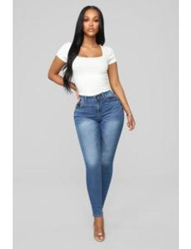My Kind Of Skinny Jeans   Medium Blue Wash by Fashion Nova