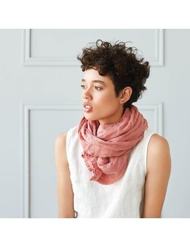 Washed Linen Scarf / Softened Linen Scarves In 8 Colors / Ready To Ship by Etsy