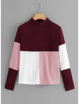 Cut And Sew Panel Jumper by Sheinside
