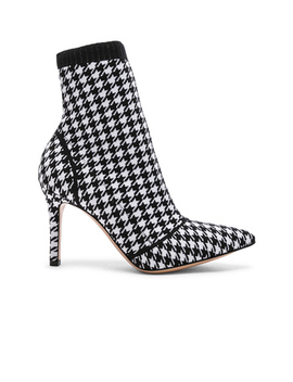 Houndstooth Knit Ankle Boots by Gianvito Rossi