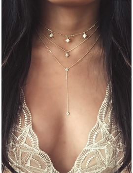 Star Detail Lariats Layered Necklace by Romwe