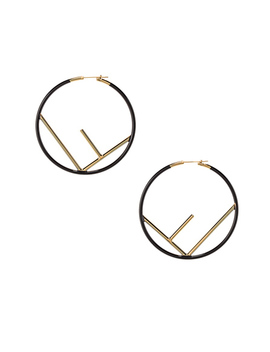 Large Logo Hoop Earrings by Fendi