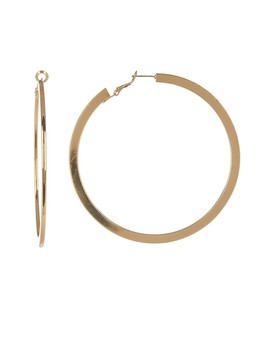 Flat Large Hoop Earrings by Ettika