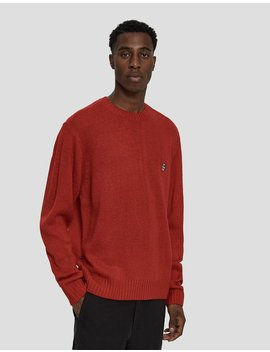 Court Crewneck Sweater In Hot Red by Obey